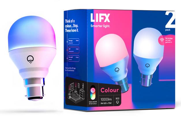 LIFX Colour 1000 B22 2-Pack