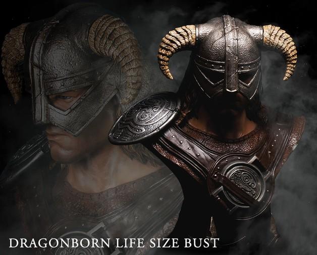 The Elder Scrolls: Dragonborn - 1:1 Scale Life-Size Bust