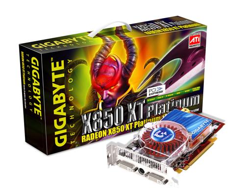 Gigabyte Graphics Card Radeon X850 XT Platiunum 256M PCIE image