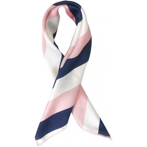 Stripe Hair Scarf - Navy Pink