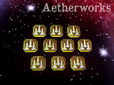 Aetherworks: Ordnance Tokens - Transparent Yellow (10 Pack)