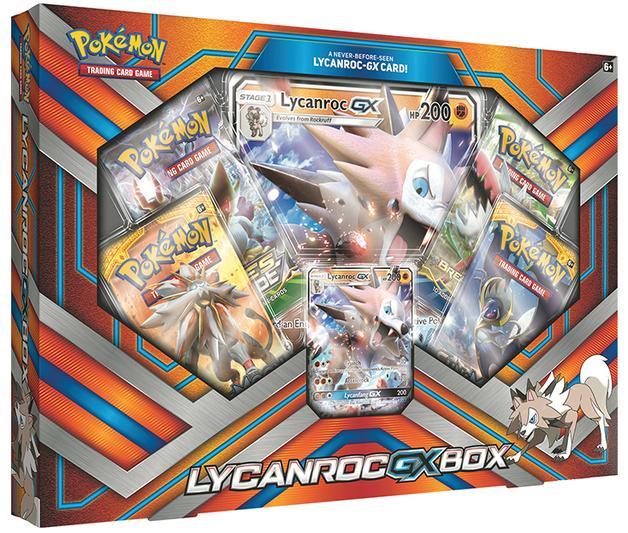 Pokemon TCG Lycanroc-GX Box