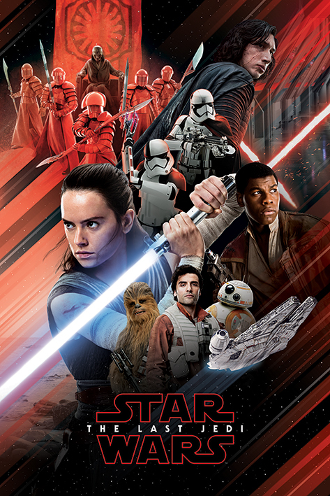 Star Wars The Last Jedi: Red Montage - Maxi Poster (670)