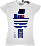 Star Wars R2-D2 White Female T-Shirt (Small)