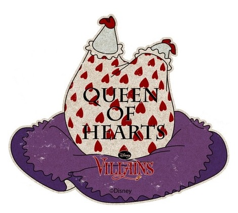 Disney Villains Travel Sticker - Queen of Hearts