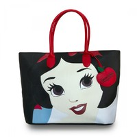 Loungefly Disney Snow White Face Tote Bag