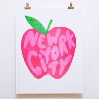 Yellow Owl: Risograph Art Print - New York City