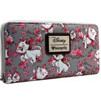 Loungefly: Disney Marie Grey - Floral Zip Around Wallet