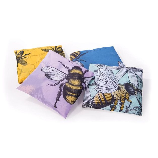 Recycled Foldable Shopper - Bees