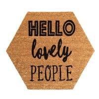 General Eclectic Doormat - Hello Lovely Hex