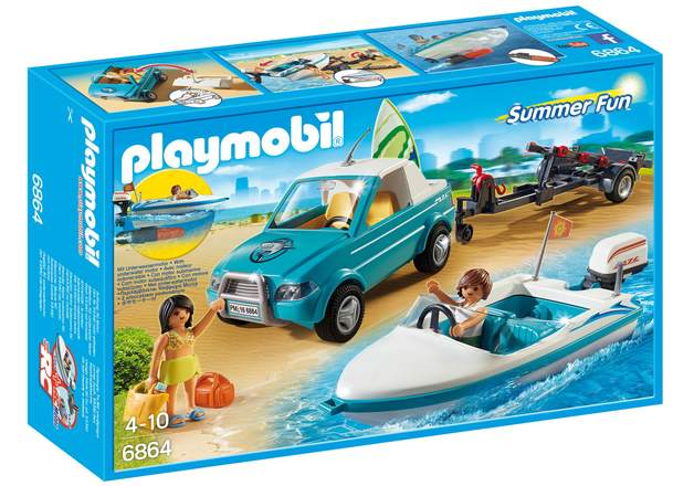 Playmobil: Summer Fun - Surfer Pickup with Speedboat