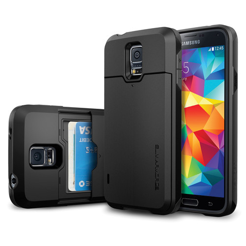 new styles 02bcd b28bf Spigen Slim Armour CS Case for Galaxy S5 (Black) | at Mighty Ape NZ