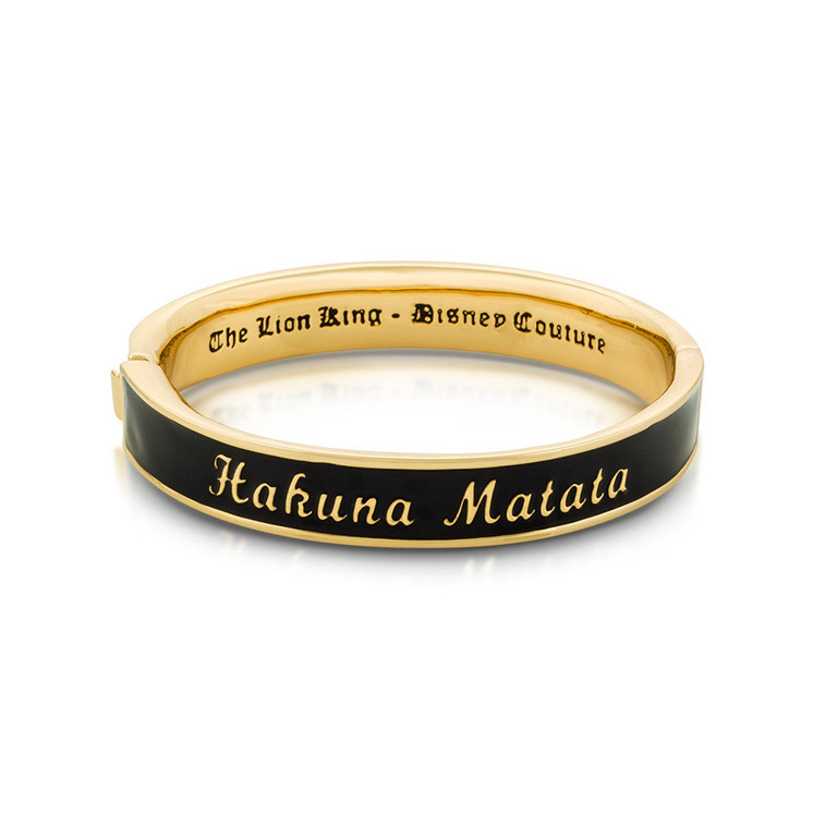 Disney The Lion King Hakuna Matata Bangle - Gold image