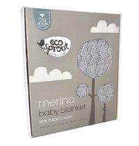 Ecosprout: Vintage Merino Bassinet/Stroller Blanket - Marl Grey