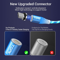 Light-Up 3-In-1 Magnetic Charging & Data Cable - Red
