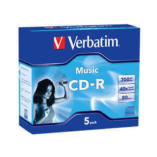 Verbatim CD-R 80Min 5Pk Audio 40x
