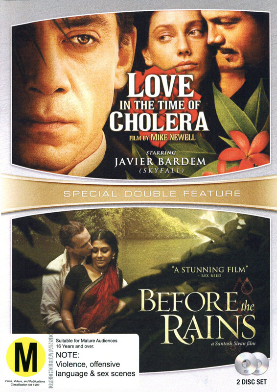 Love In A Time Of Cholera/Before the Rains Double Pack on DVD