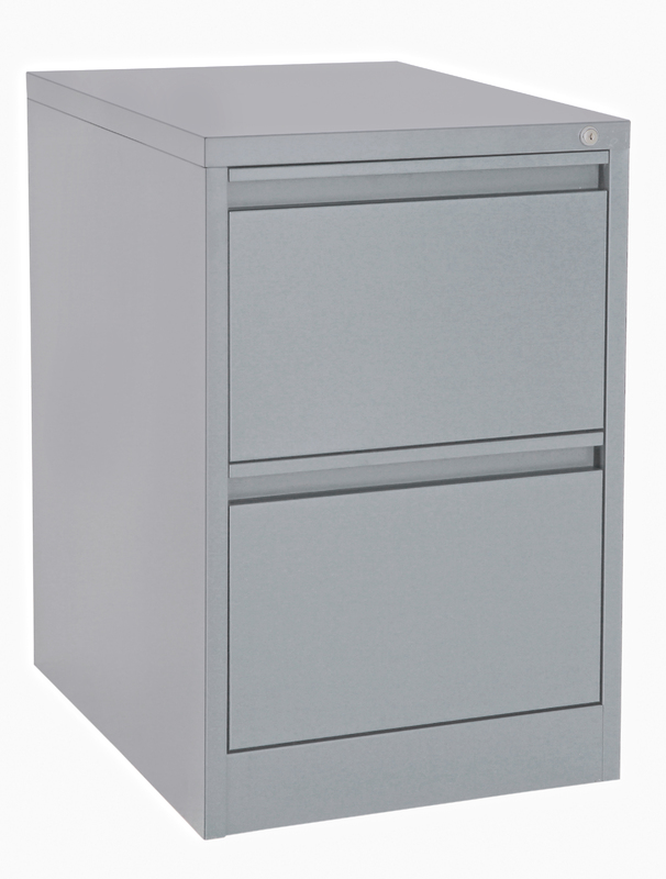 Proceed Lockable Filing Cabinet 2 Drawer - Grey