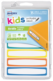 Avery: Durable Kids Labels - (89 x 16mm)