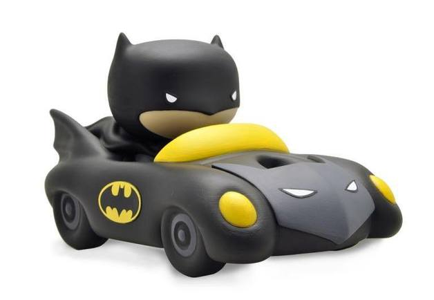 Justice League Chibi Bust Bank Batmobil