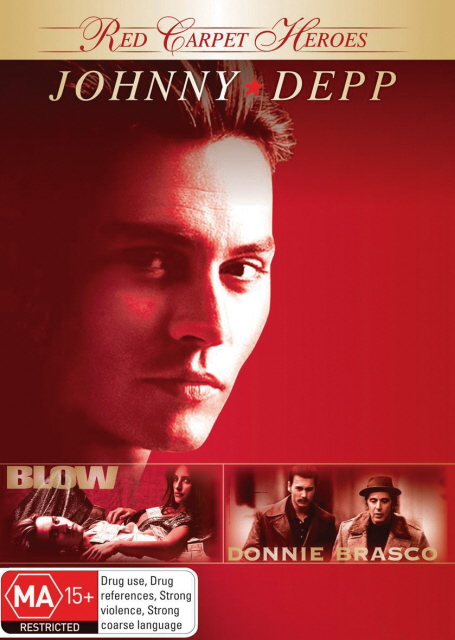 Red Carpet Heroes - Johnny Depp (Blow / Donnie Brasco) (2 Disc Set) on DVD image