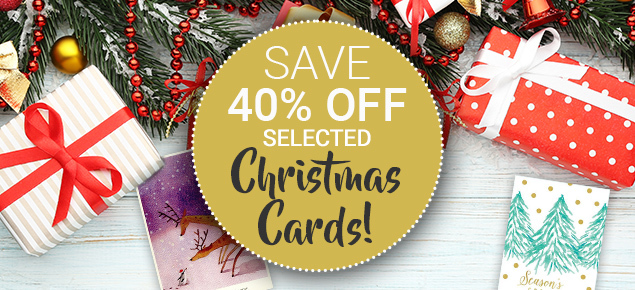 40% off Selected Christmas Cards!