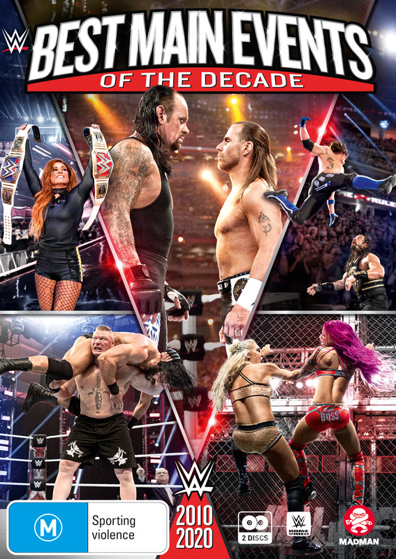 WWE: Best of Main Events of The Decade 2010-2020 on DVD