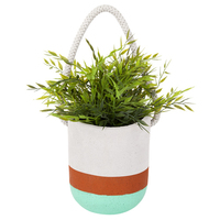 Hanging Plant Pot - Green Orange (Large)