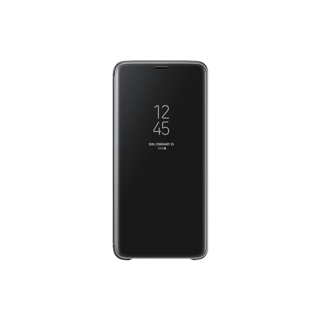 Samsung Galaxy S9+ Clear View Standing Flip Cover - Black