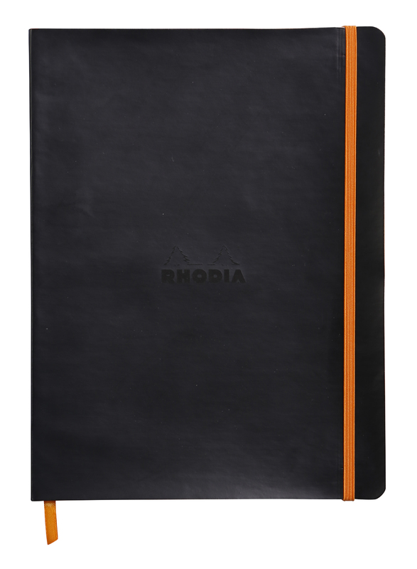 Rhodiarama 19x25cm Softcover Notebook Dot Grid - Black