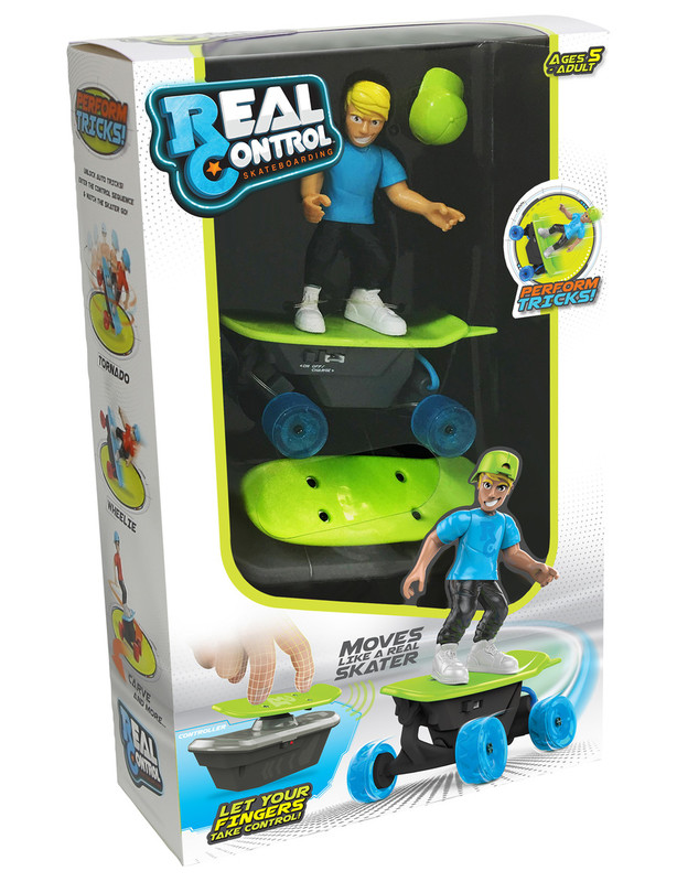 Real Control: Skateboarding RC Toy - Blue