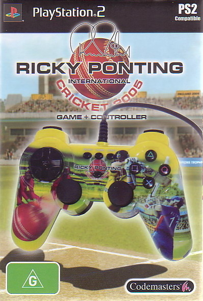 Ricky Ponting International Cricket 2005 + Controller for PlayStation 2