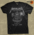Metallica: NZ Passport - Black T-Shirt (Large)