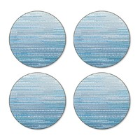 Blue Dapple Coasters - Round (Set/4)