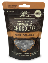 Tom & Luke Dark Orange Chocolate Snackaballs Pouch (88g)