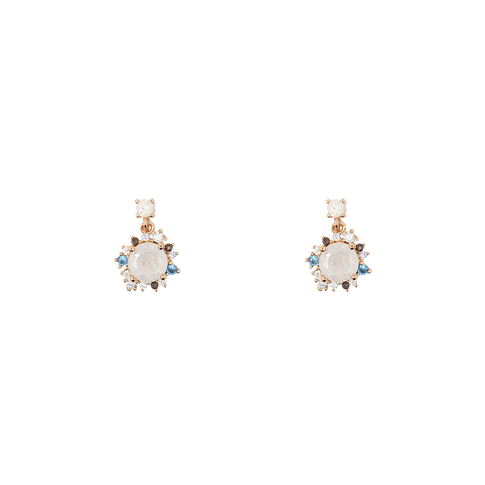 Short Story: Drop Earring Wreath Rose Gold image