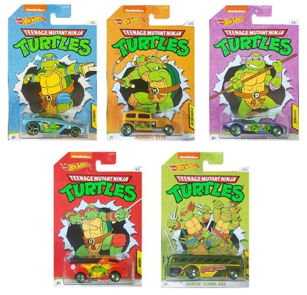 Hot Wheels: Entertainment Character Car - Teenage Mutant Ninja Turtles Diecast Car (Assorted Designs)