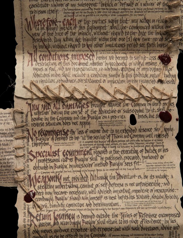 The Burglar Contract of Bilbo Baggins (mini) image