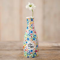 Natural Life: Floral Bud Vase - Be Happy