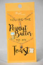 Necklace Pair - Peanut Butter & Toast