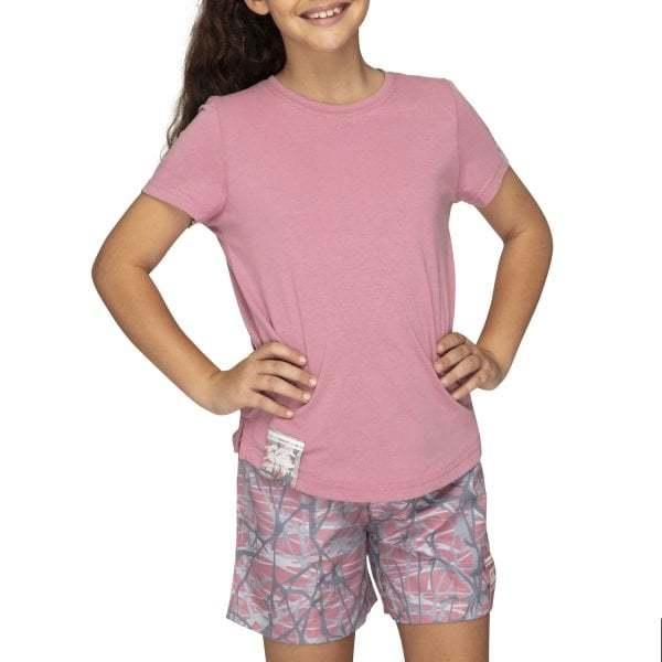 Canterbury: Girls Camo Logo Tee - Foxglove (Size 8)