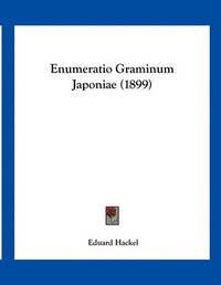 Enumeratio Graminum Japoniae (1899) by Eduard Hackel