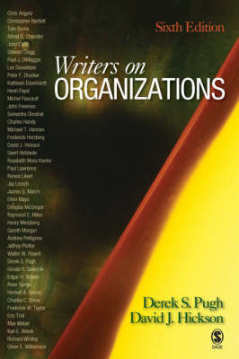 Writers on Organizations by Derek Salman Pugh