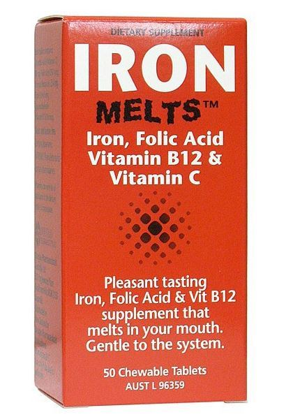 Iron Melts Tablets 100mg (50 Tablets)