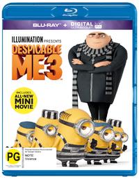 Despicable Me 3 on Blu-ray, UV
