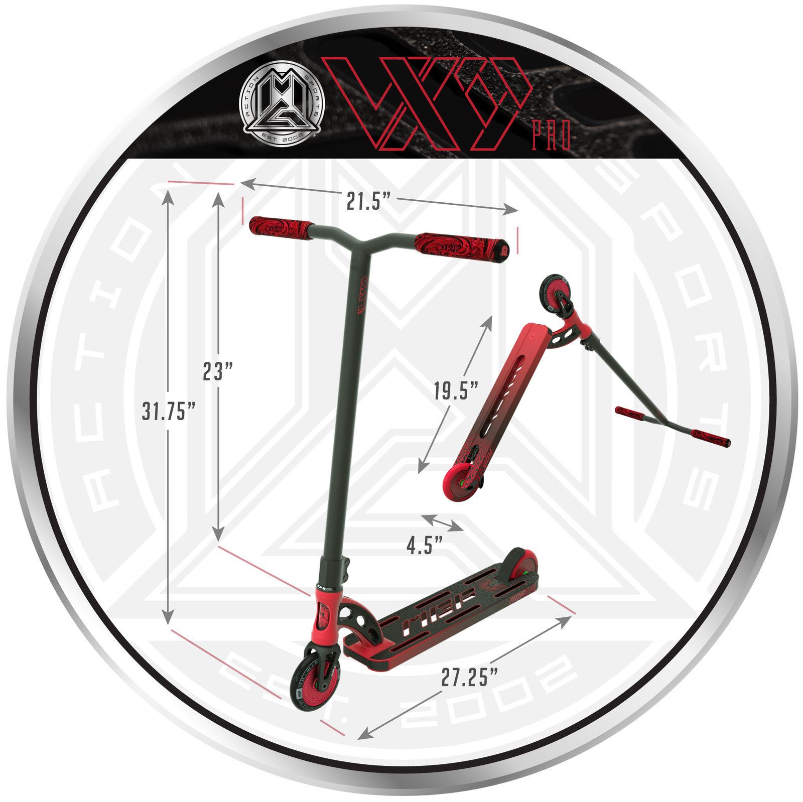 MADD Gear: VX9 Pro Scooter - Red/Black image