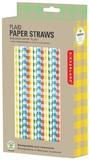 Paper Straws - Plaid & Gingham (144 Box)