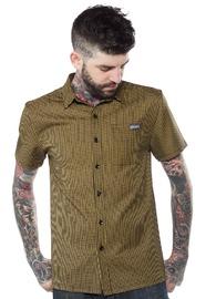 Kustom Kreeps: Mustard Check - Button Down Shirt (Medium)