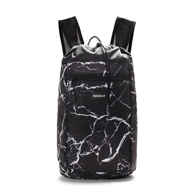 Vooray: Stride Cinch Backpack - Black Marble