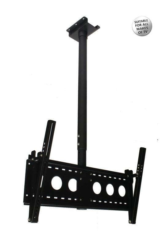 Aavara Flat TV ceiling mount, Tilt and Swivel, Hidden Cables